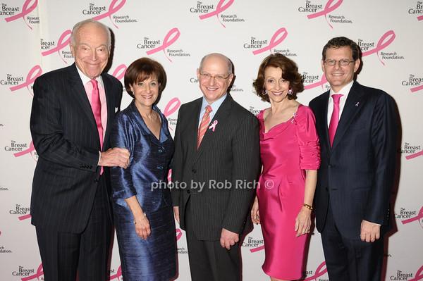 Leonard Lauder, Myra Biblowit, Larry Norton, Evelyn Lauder, Cliff Hudis<br /> photo by Rob Rich © 2009 robwayne1@aol.com 516-676-3939