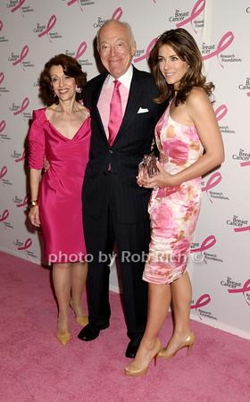 Evelyn Lauder, Leonard Lauder, Elizabeth Hurley<br /> photo by Rob Rich © 2009 robwayne1@aol.com 516-676-3939