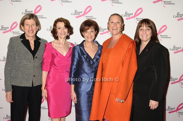 Candace King Weir, Evelyn Lauder, Myra Biblowit, Sheryl Schwartz, Julie Bonacio<br /> photo by Rob Rich © 2009 robwayne1@aol.com 516-676-3939