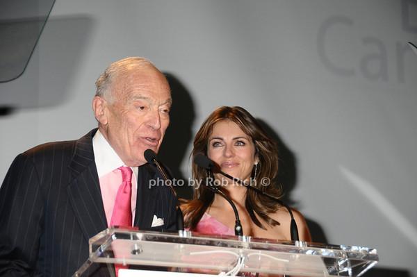 Leonard Lauder, Elizabeth Hurley<br /> photo by Rob Rich © 2009 robwayne1@aol.com 516-676-3939