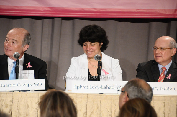 Eduardo Cazap, Ephrat Levy-Lahad, Larry Norton<br /> photo by Rob Rich © 2009 robwayne1@aol.com 516-676-3939