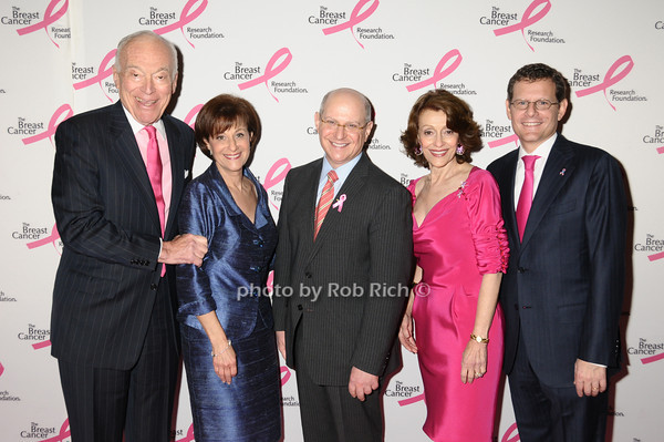 Leonard Lauder, Myra Biblowit, Larry Norton, Evelyn Lauder, Cliff Hudis<br /> photo by Rob Rich © 2009 robwayne1@aol.com 516-676-3939