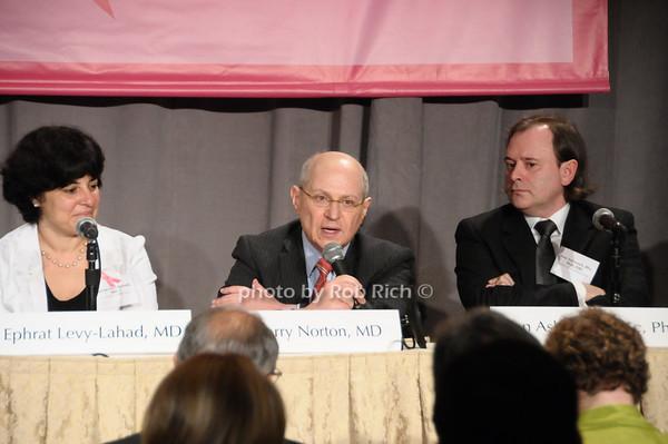 Ephrat Levy-Lahad, Larry Norton, Alan Ashworth <br /> photo by Rob Rich © 2009 robwayne1@aol.com 516-676-3939