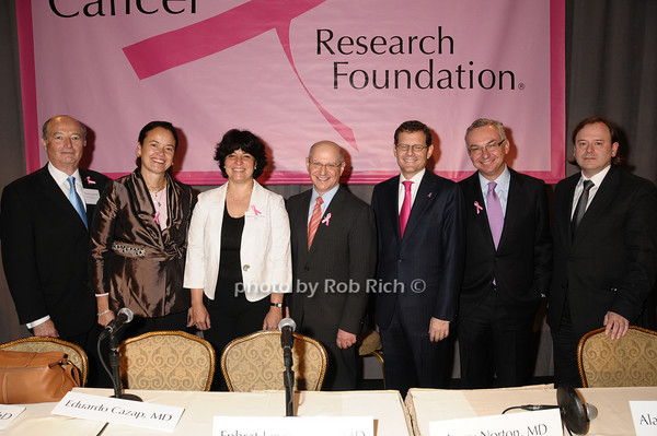 Eduardo Cazap,  Martine Piccart-Gebhart,Ephrat Levy-Lahad, Larry Norton, Clifford Hudis, Jose Balega, Alan Ashworth   <br /> photo by Rob Rich © 2009 robwayne1@aol.com 516-676-3939