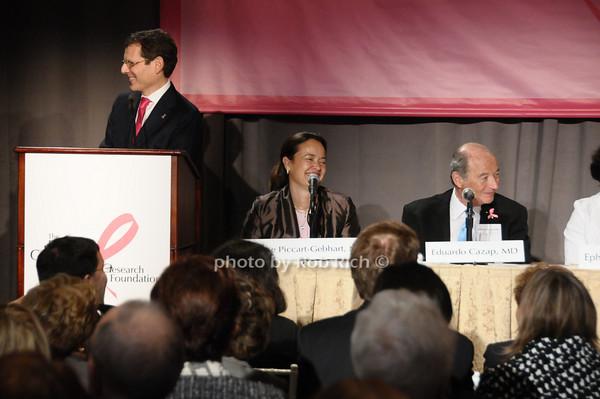 Clifford Hudis, Martine Piccart-Gebhart, Eduardo Cazap<br /> photo by Rob Rich © 2009 robwayne1@aol.com 516-676-3939