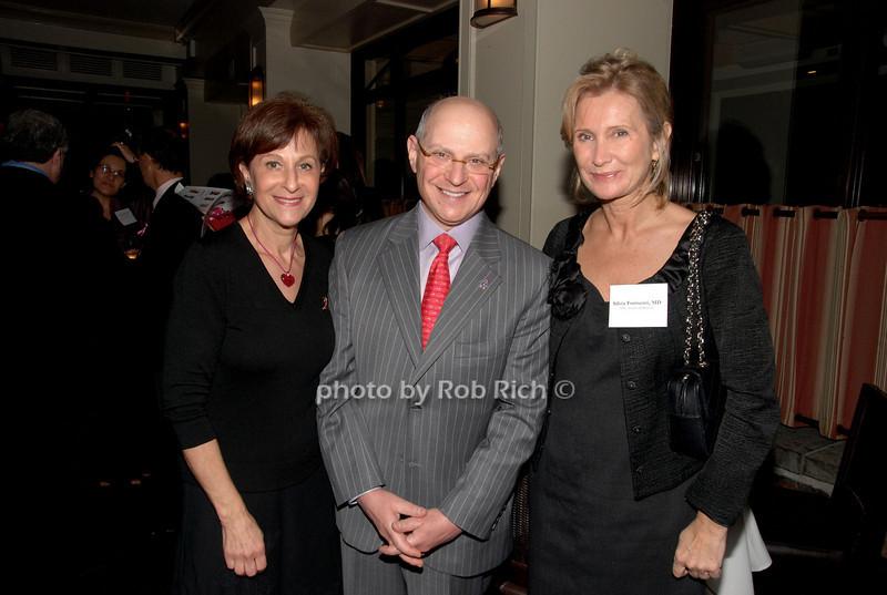 Myra Biblowit, Larry Norton & Silvia Formenti<br /> photo by K.Doran for Rob Rich © 2009 robwayne1@aol.com 516-676-3939