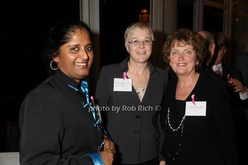 guest, Christine Ambrosone, Carol Fabian<br /> photo by Rob Rich © 2009 robwayne1@aol.com 516-676-3939