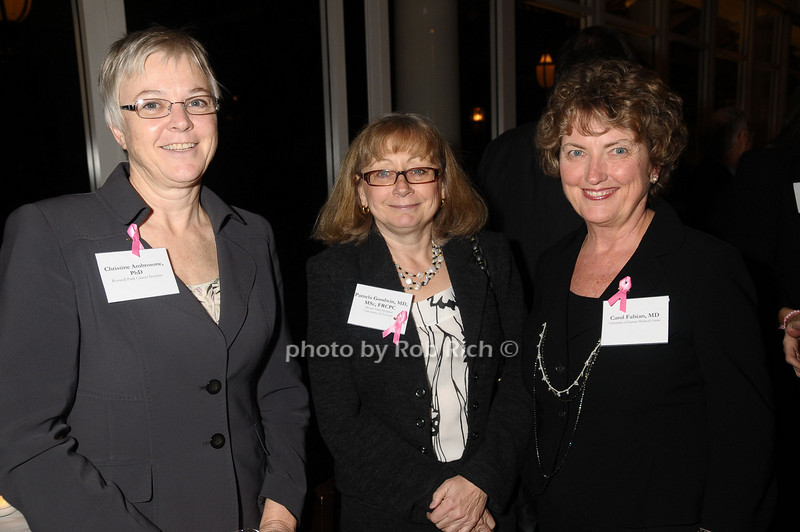 Christine Ambrosone,Pamela Goodwin, Carol Fabian<br /> photo by Rob Rich © 2009 robwayne1@aol.com 516-676-3939