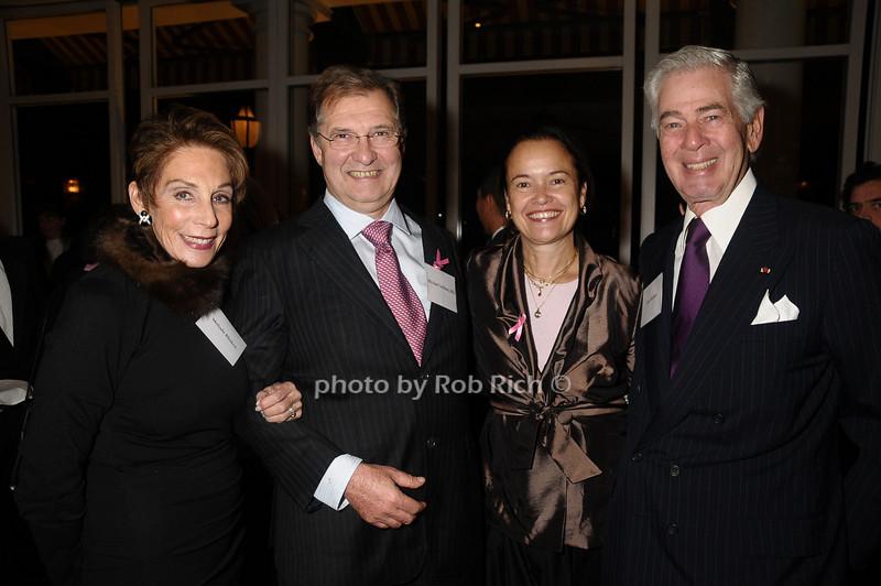 Melinda Blinken,Michael Gebhart, Martine Piccart-Gebhart,Alan Blinken<br /> photo by Rob Rich © 2009 robwayne1@aol.com 516-676-3939