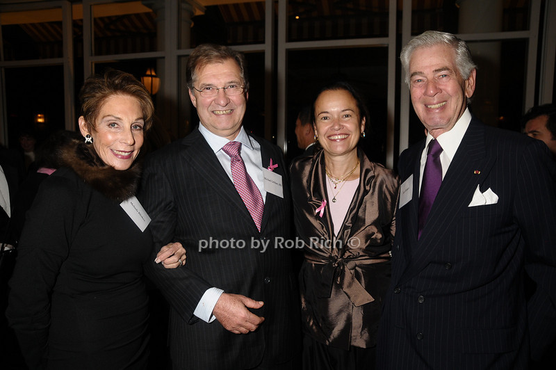 Melinda Blinken,Michael Gebhart, Martine Piccart-Gebhart,Alan Blinken<br /> photo by Rob Rich © 2009 robwayne1@aol.com 516-676-3939