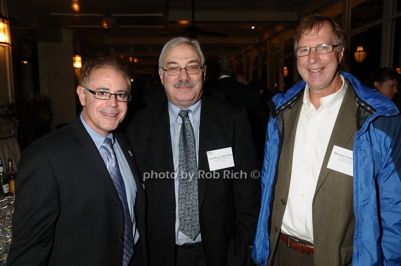 guest, Neal Rosen, Michael Clarke<br /> photo by Rob Rich © 2009 robwayne1@aol.com 516-676-3939