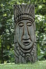 Chaa Creek Eco Resort in Chayo District of Belize is well done and i highly recommend the place...this totem is found down the river path near the campground...