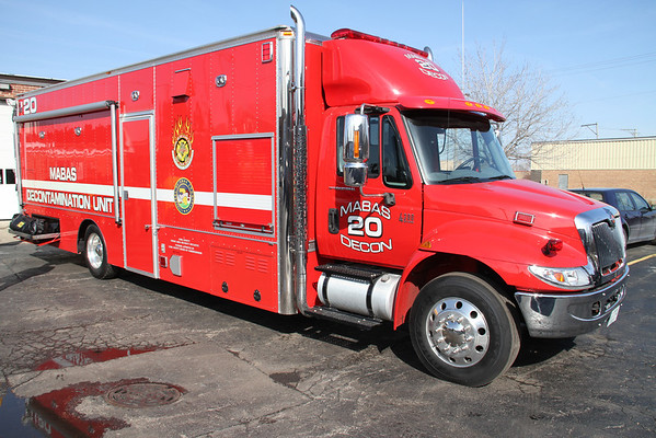 BENSENVILLE TRAINING WITH MABAS DIVISION 20 DECON TRAILER