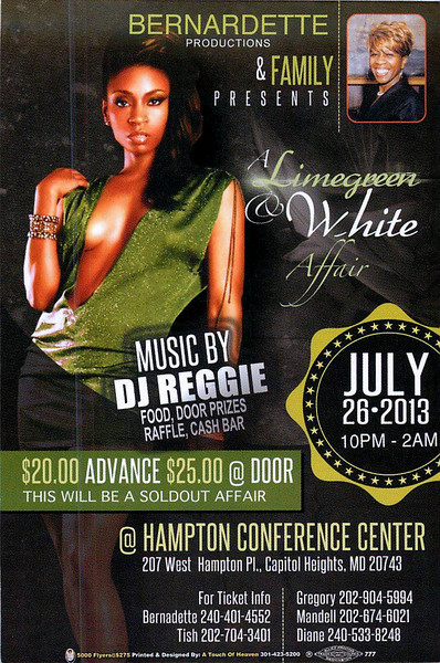 BERNARDETTE'S LIMEGREEN AND WHITE PARTY 2013