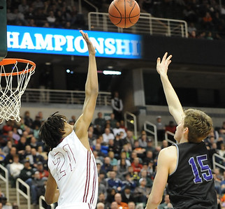 Muskegon, the No. 1 ranked team in the state, knocked off Bloomfield Hills, 91-67, in the Class A state championship game Saturday. (For The Oakland Press/KEN SWART)