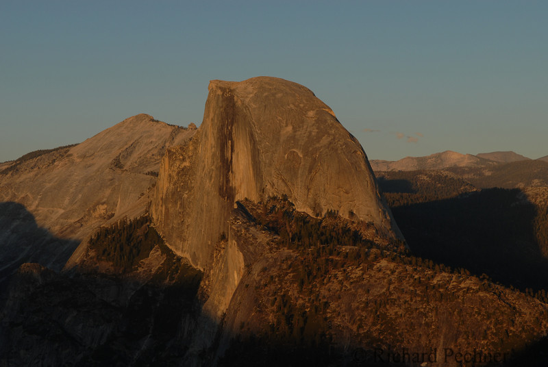 Half Dome just before sunset from Glacier Point