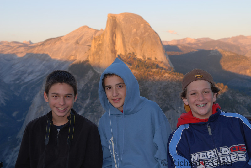 3 boys and half a dome