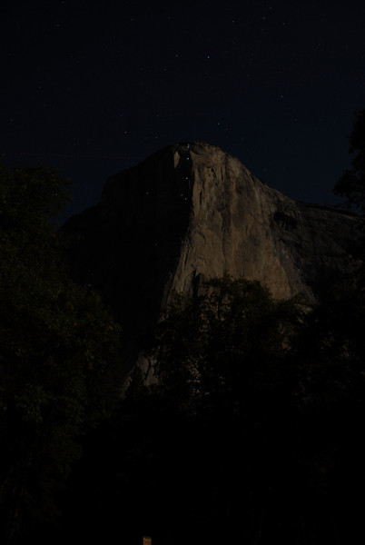 """El Capitan, 25 second exposure with head lights of climbers clearly visable on the face (best viewed in""""large"""" size)"""