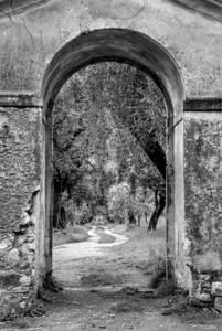 Entrance to villa in Bellagio, Italy