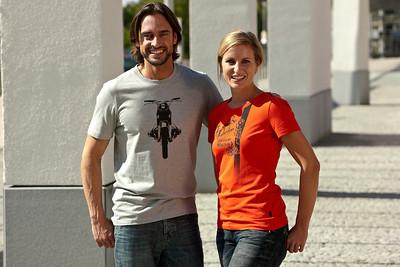 BMW Motorrad Style Heritage 2012, Happy men's T-shirt and Heritage ladies' T-shirt