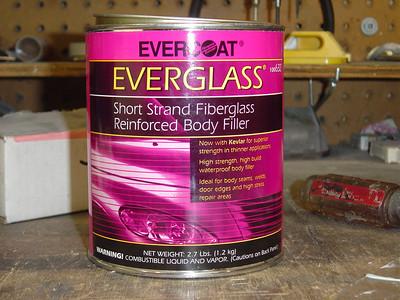 The following pics show how I used Evercoat Everglass Epoxto fix a stupid mistake