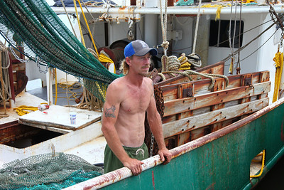 Richard Miller preparing for one of his last nights shrimping -- potentially for his lifetime.  Richard has been a shrimper and oysterman since he was 14.  Video interview to follow.