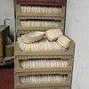 Baskets are used to raise the dough.  We have approx. 400 of these. we store them in our bread racks when not in use.