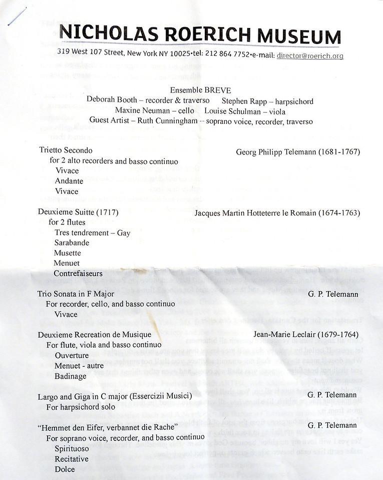 The program February 23, 2014