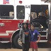 Fire-fighter visit - Tabbu and Adarsh