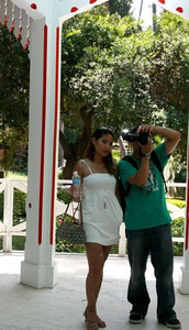 At the LA County Arboretum with Sheila, my very first modeling subject. What a sport!