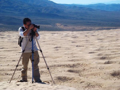 High atop the dunes at Kelso - Mojave National Preserve