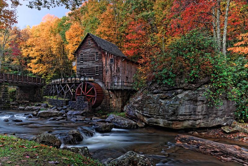 Glade Creek Mill at Sunrise