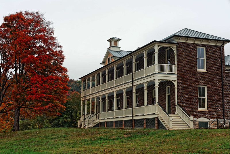 Old Railroad Hotel,  then school, then orphanage, and to be restored B&B