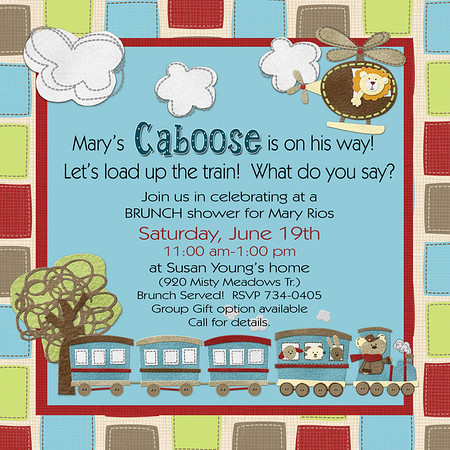 Baby Boy Caboose Shower