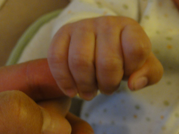 Baby Henry's First Grasp Caught on Camera