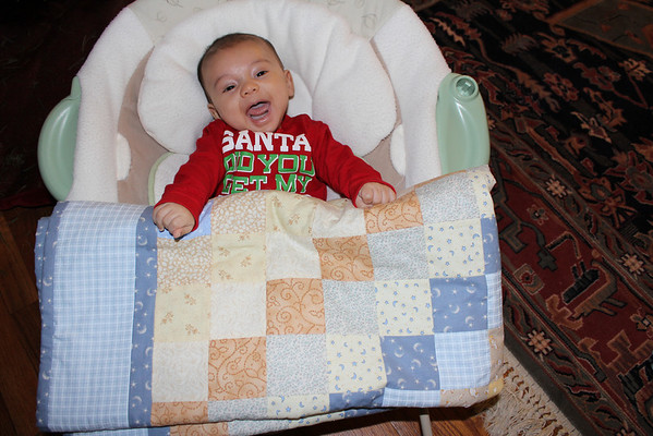 Baby Henry's First Quilt Made by Aunt Cherie
