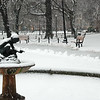 Boston Public Garden in Snow -  3