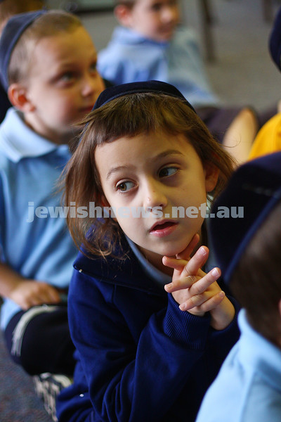 29/1/10. First day of school 2010. Prep class. Yeshivah College. Elimelech Daveney. Photo: Peter Haskin