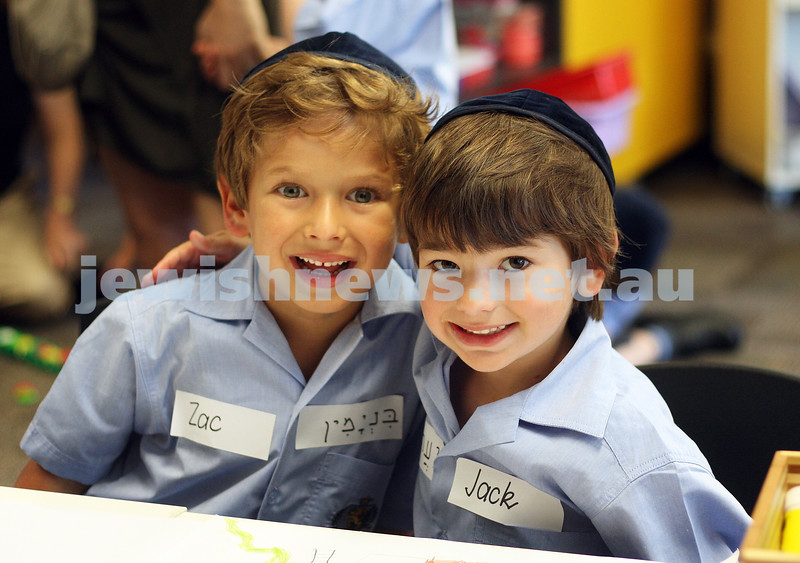 First day of school 2011. Gandel Besen House. Zac Goldman (left), Jack Lindell. Photo: Peter Haskin