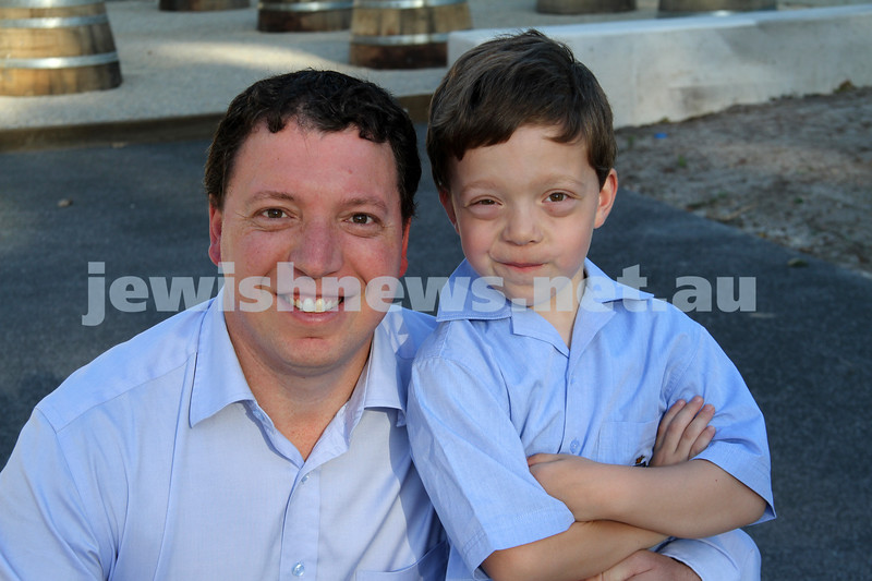 First day of school 2011. Gandel Besen House. Dvir (left) and Ethan Abmramovich. Photo: Peter Haskin