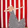 """Red and White Striped Americana<br /> Stripes are 8"""" wide (red), 5"""" wide (white)"""