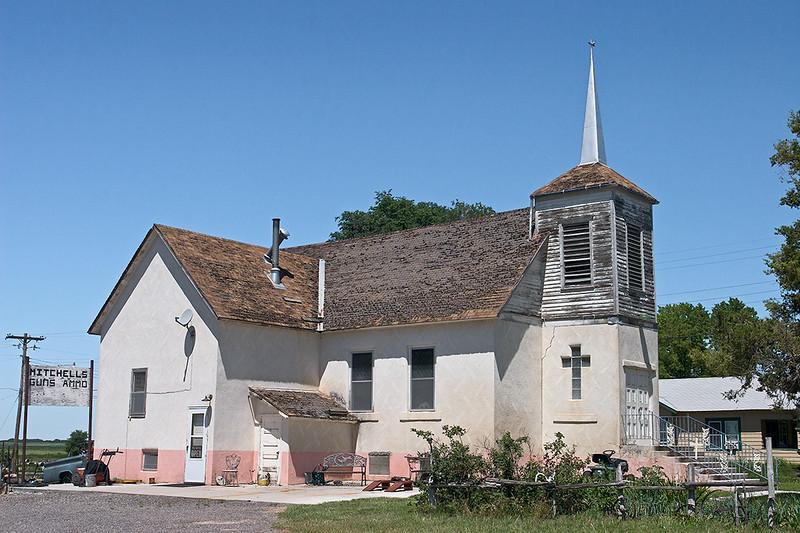 Gun store in old church, Nebraska<br /> ©2011 Peter Aldrich