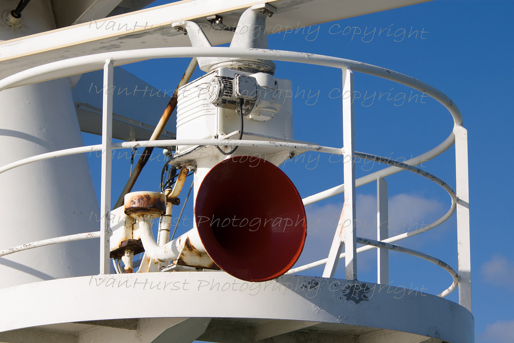 Mast from Monkey Island<br /> Monkey Island is the deck above the bridge, with a near 360 degree view.
