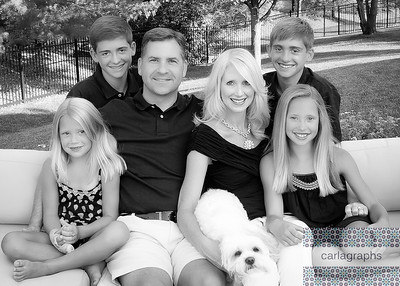Family Closer Up black and white-