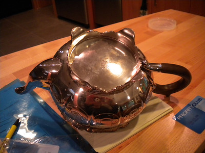 backyard teapot