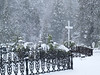 060314_4024 Heavy snow falling at St  Canice Cemetary
