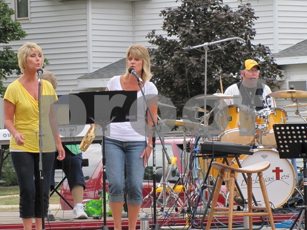 Badger Lutheran Church held an outdoor band concert to raise funds to help send Jordan Yates to seminary.