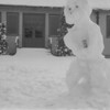 Photos courtesy of Spanish Petty Officer Manuel Borja, who trained at USNTC BAINBRIDGE from 1963 to 1964, attending Fire Control School.<br /> <br /> Snow Puppet, outside barracks entrance.