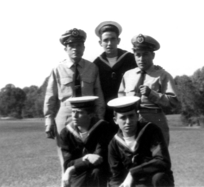 Photos courtesy of Spanish Petty Officer Manuel Borja, who trained at USNTC BAINBRIDGE from 1963 to 1964, attending Fire Control School.<br /> <br /> Spanish and Peruvian sailors.