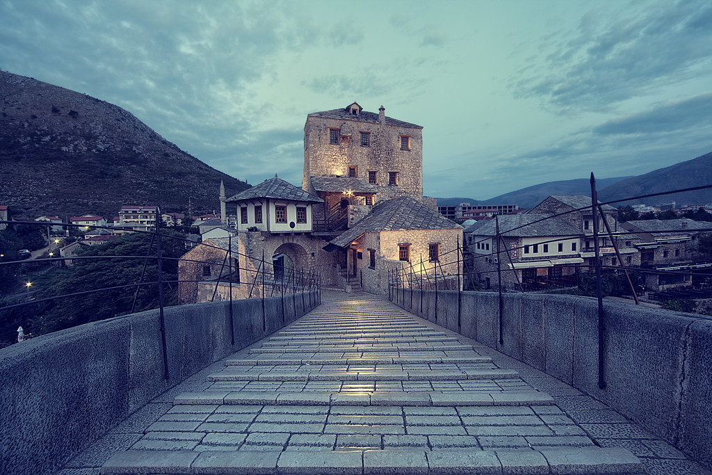 Stari Most at dawn